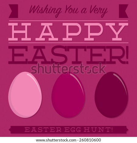 Retro style Easter typographic card in vector format. - stock vector