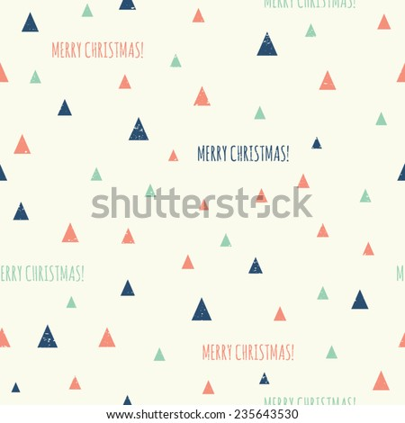 Retro style geometric seamless pattern for Christmas. - stock vector