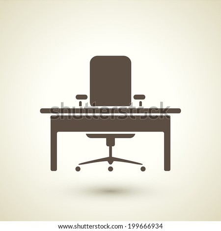 retro style office icon isolated on brown background - stock vector