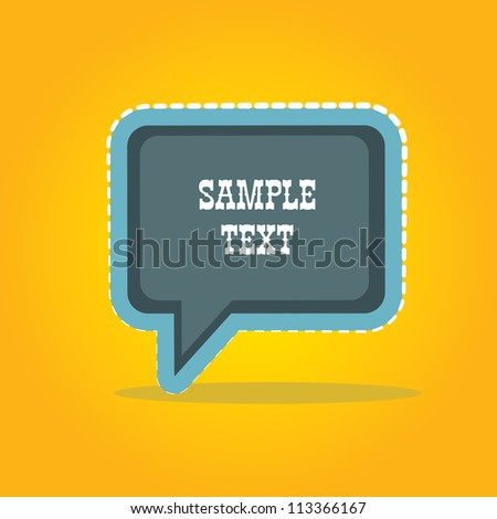 retro style speech bubbles . vector abstract vintage background.