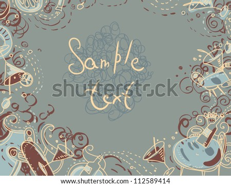 retro styled invitation to cocktail party Invitation card in Vintage style - stock vector