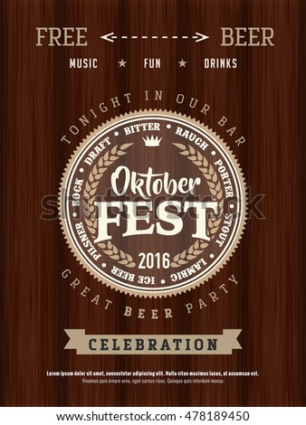 Retro styled vector logo set of beer Oktoberfest. Good as a design elements template for bar or pub