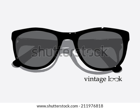 Retro styled vintage eyewear - stock vector