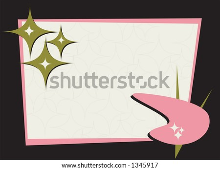 Retro-stylin' frame. Fully editable vector illustration. - stock vector