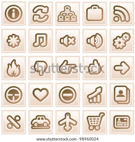 Retro Stylized Interface Icons. Vector Collection #2 - stock vector