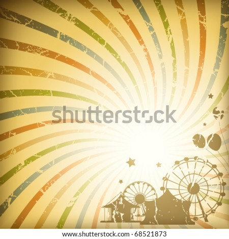 Retro sunburst background - stock vector