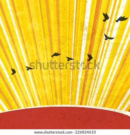 Retro Sunrays Background. Vector, EPS10 - stock vector