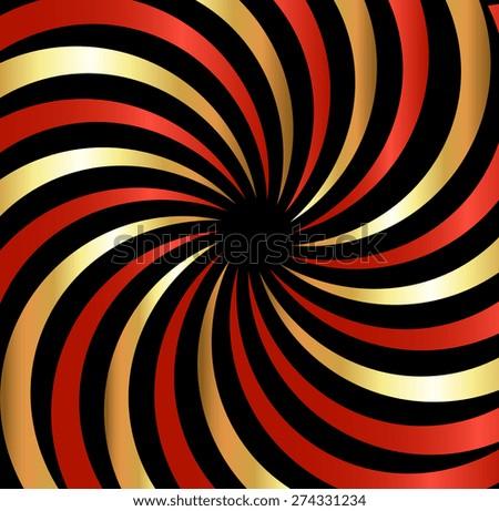 Retro Swirl Sunburst Background - stock vector