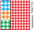 Retro tablecloth texture (Seamless fabric pattern background) - stock photo