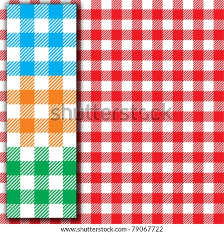 Retro tablecloth texture (Seamless fabric pattern background) - stock vector