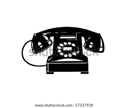 Retro Telephone 1 - Retro Clip Art - stock vector