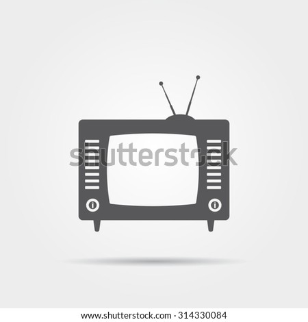 Retro Television Icon - stock vector