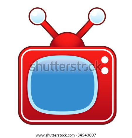 Retro television set suitable for use in print, on websites, and in promotional materials.