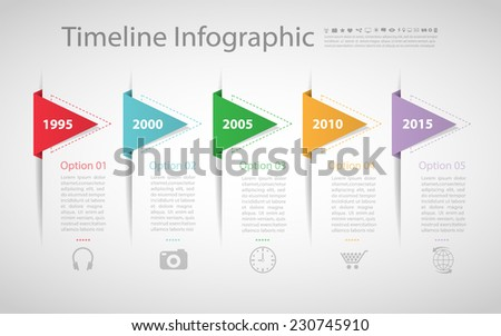 Retro template. Can be used for workflow layout, banner, diagram, web design, infographic Vector/illustration - stock vector