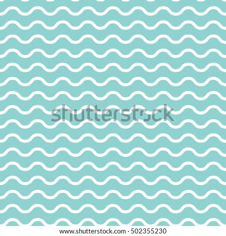 Retro textured green wave shaped seamless background in vector format