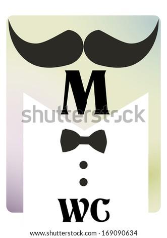 Retro toilet symbol WC man and woman - stock vector