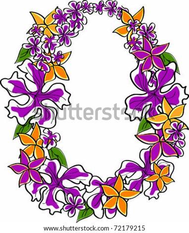 retro tropical flower lei vector illustration stock photo photo rh shutterstock com  hawaiian lei clip art