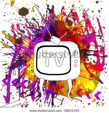 Retro TV - stock vector