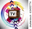 Retro TV background - stock vector