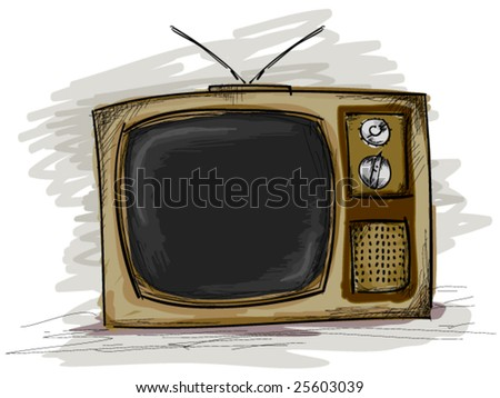 Retro TV Doodles - Vector