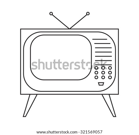 Retro Tv icon vector illustration