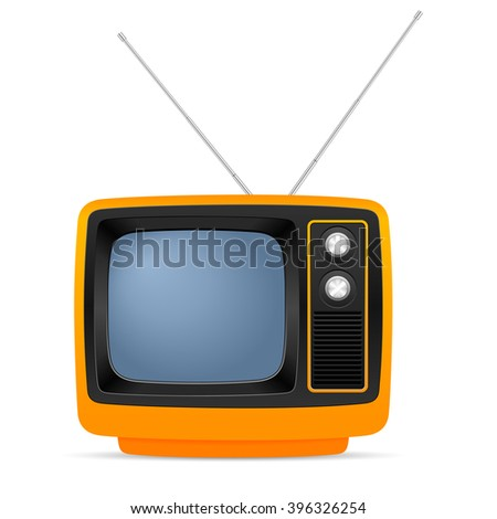 Retro TV on a white background. - stock vector