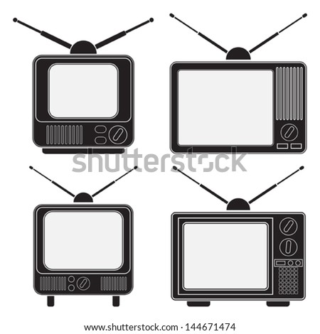 Retro TV sets collection - stock vector