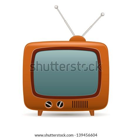 Retro tv. Vector illustration - stock vector