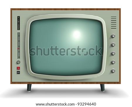 Retro tv, vector illustration. - stock vector