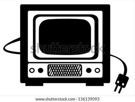 retro Tv vector illustration on white background