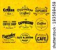Retro Typography Coffee and Cafe Logo Badge Design - stock vector