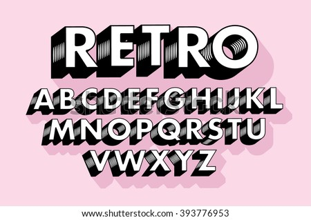 retro typography/font vector/illustration