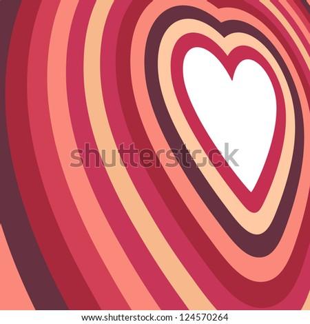 Retro Valentine's Day Card - stock vector