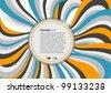 Retro vector background - stock vector