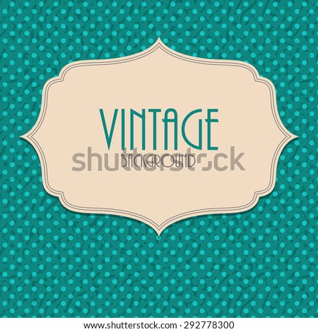 Retro Vintage Background Template Vector Illustration EPS10