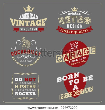 Rockabilly stock images royalty free images vectors for Vintage screen print t shirts