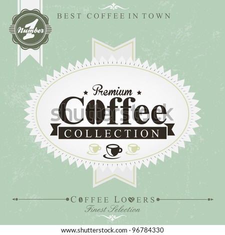 Retro Vintage Coffee Background - stock vector
