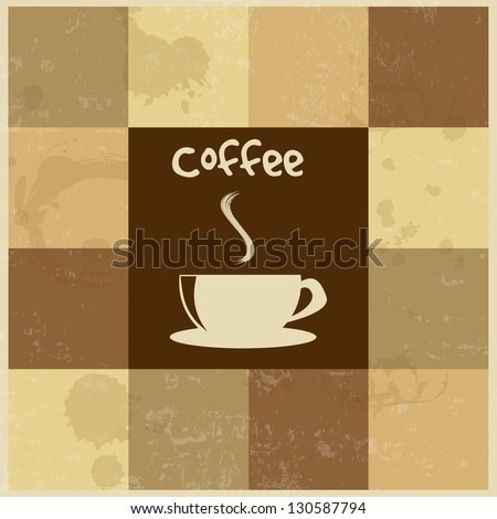 Retro Vintage Coffee Background , vector illustration