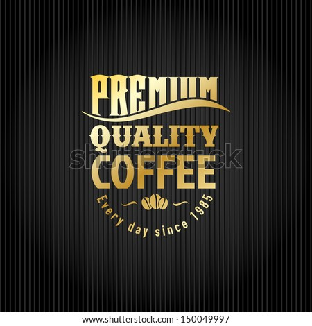 Retro Vintage Coffee Background with Golden Typography