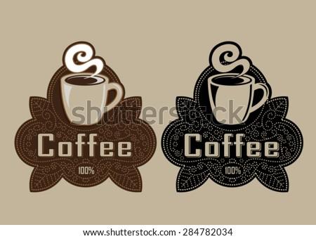 Retro Vintage Coffee Seal - stock vector