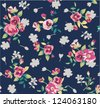 retro vintage flower seamless pattern background - stock vector