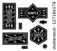 retro vintage geometric label with arrow - stock vector