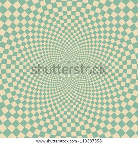 Retro vintage grunge hypnotic background.vector illustration - stock vector