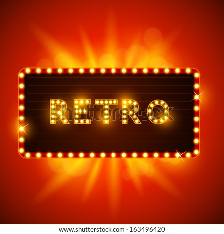 Retro Vintage Sign. Vector illustration - stock vector