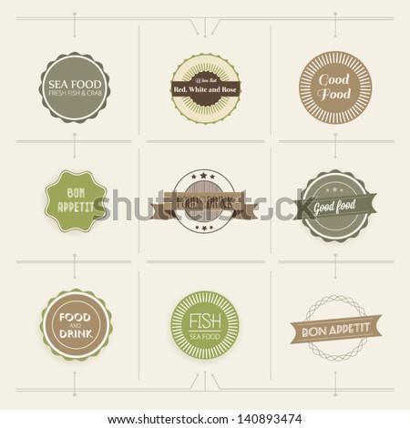 Retro vintage style restaurant menu designs. Vector illustration - stock vector