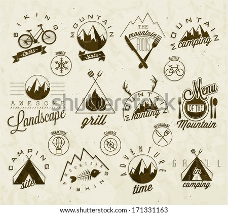 camping icons stock photos royaltyfree images amp vectors
