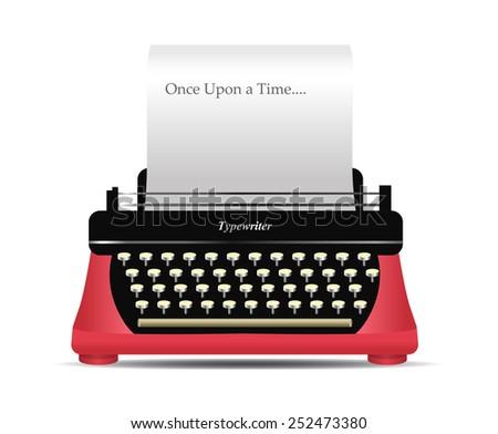 Retro Vintage Typewriter Vector - stock vector