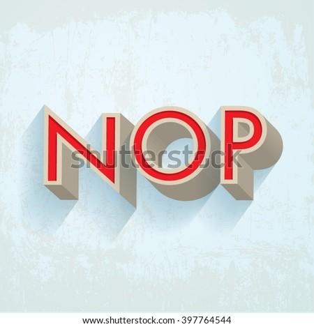 retro/ vintage typography/ font/ alphabet design vector N,O,P - stock vector