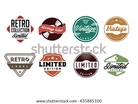 Retro vinyl records emblem. Limited edition. Retro label. Vintage badges