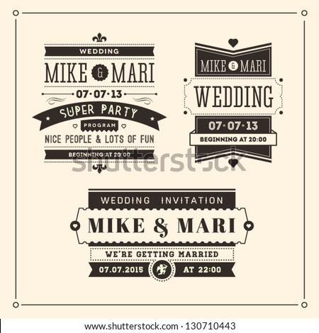Retro Weddings Invitations